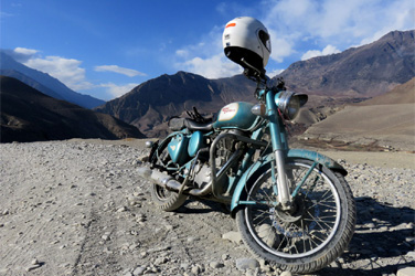 Motor biking in Tibet